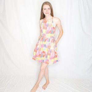 KATE SPADE SATURDAY Scribble Square Sun Dress 0525